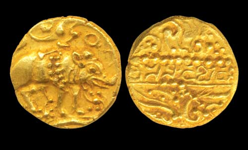 Gold Coin of the Chalukyas of Badami