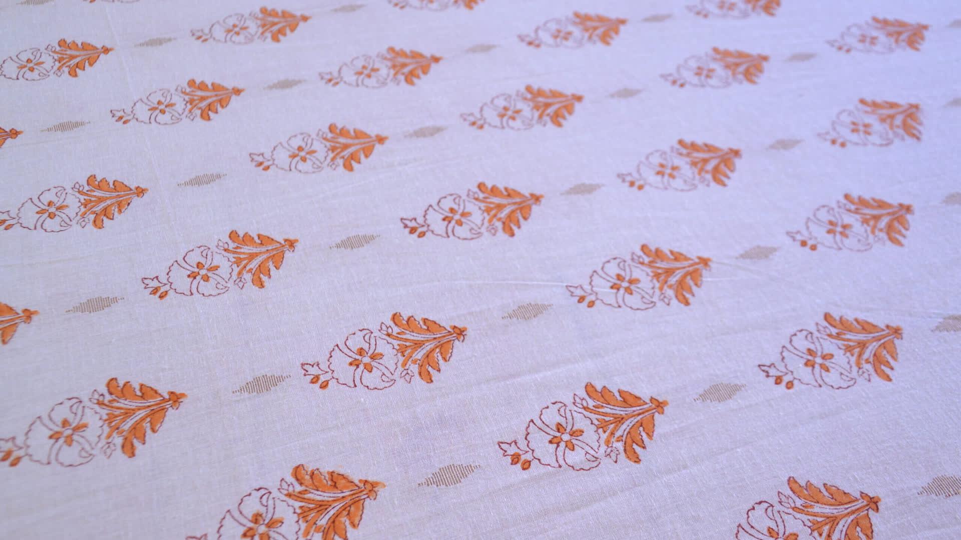 Sanganeri Block-Printed Textile