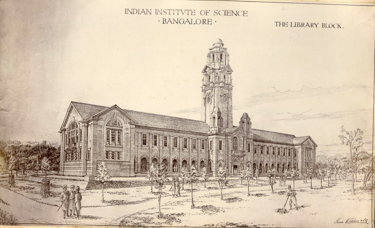 IISc's iconic Main Building, designed by architect CF Stevens