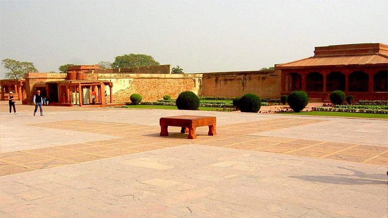The Chaupad Board at Fatehpur Sikri