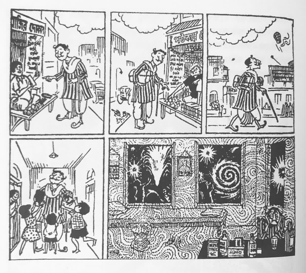 Comic strips of Sandesh | Rong Tulir Satyajit (Debasis Deb)