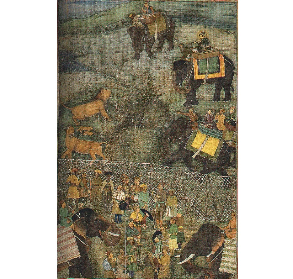 'Qamargah style of hunting' by Shah Jahan in Burhanpur, 1630