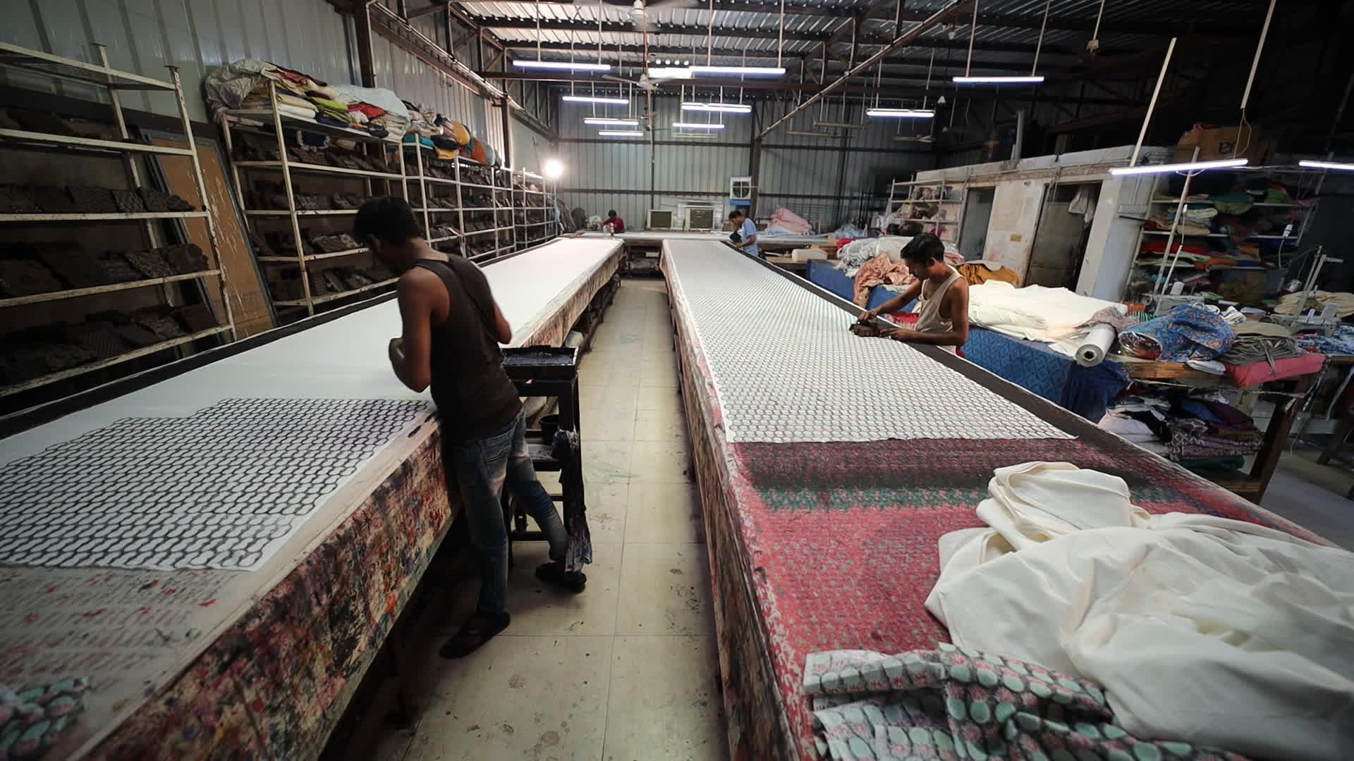 A block-printing unit in Sanganer
