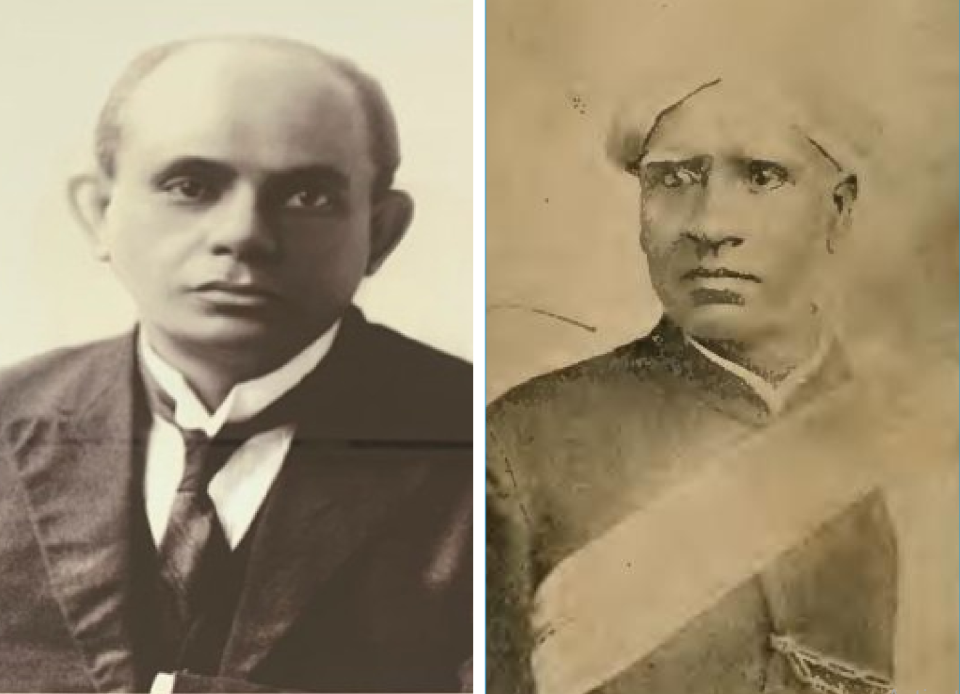 Burjorji Padshah and Seshadri Iyer