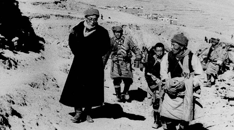 Dalai Lama's journeying Lhasa to the India, March 1959