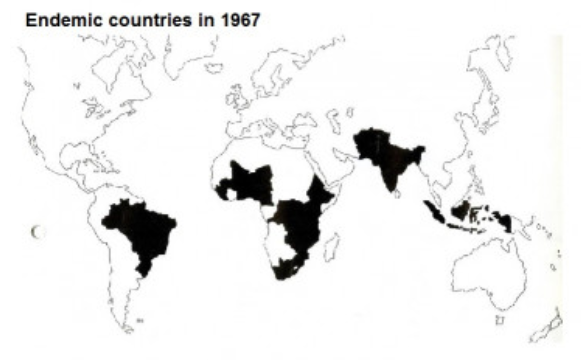 Endemic Countries in 1967