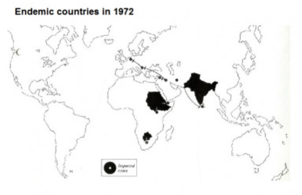 Endemic countries in 1972