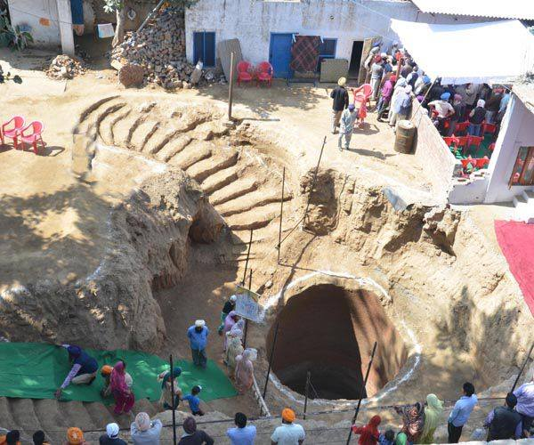Excavations at the well