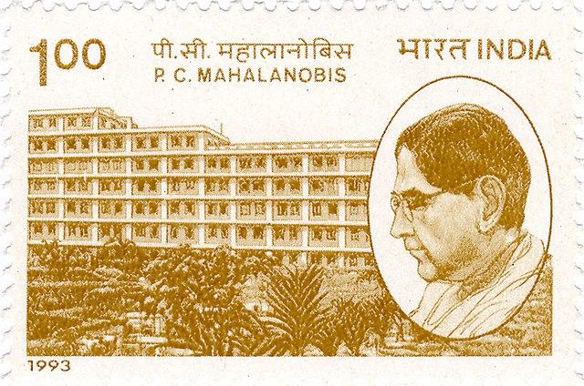 Stamp issued in honour of Mahalanobis