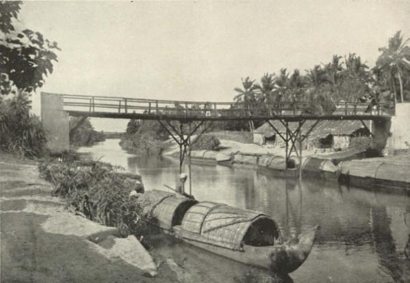 A canal scene in Travancore