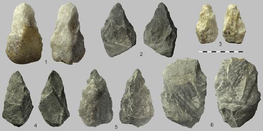 Acheulian Tools from Singi Talav, Rajasthan - after Prof Sheila Mishra