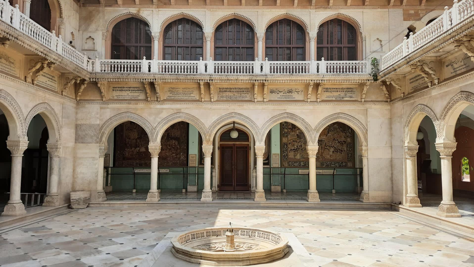 The courtyard of Albert Hall Museum in Jaipur, designed by Samuel Swinton Jacob   LHI