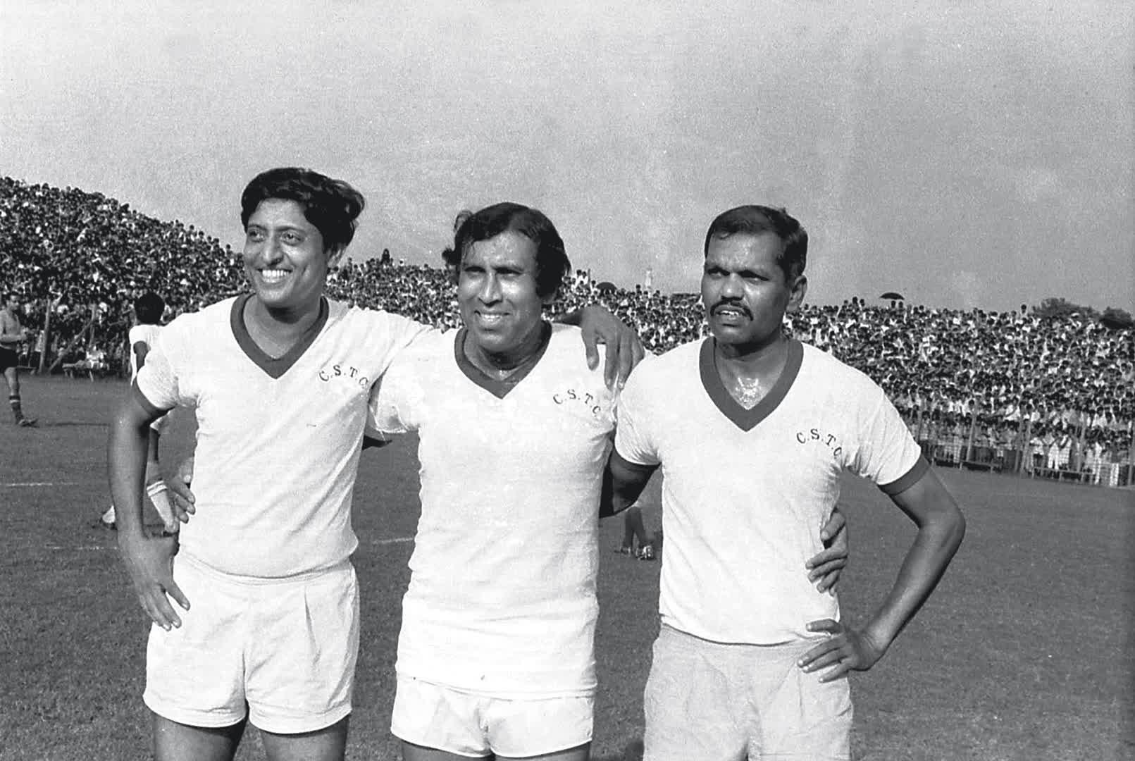 Famous troika of Indian football: (L to R) Chuni Goswami, PK Banerjee and Tulsidas Balaram