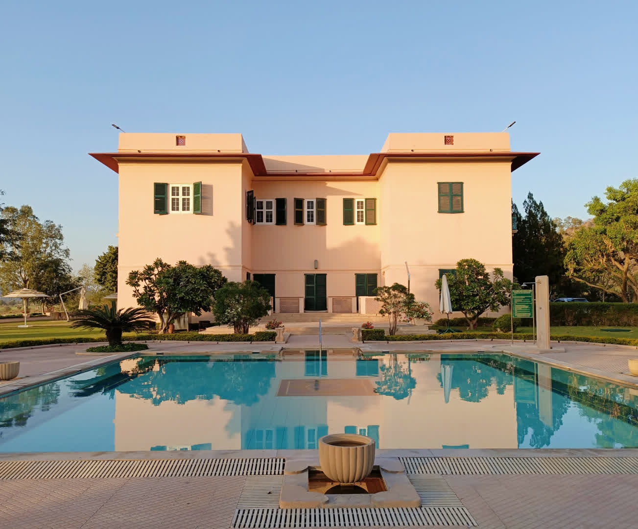 Pool and Side View of Ramgarh Lodge