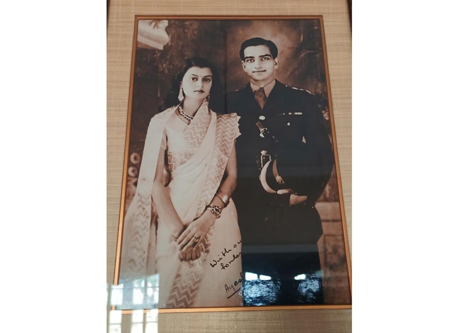 Maharani Gayatri Devi with Maharaja Man Singh II of Jaipur