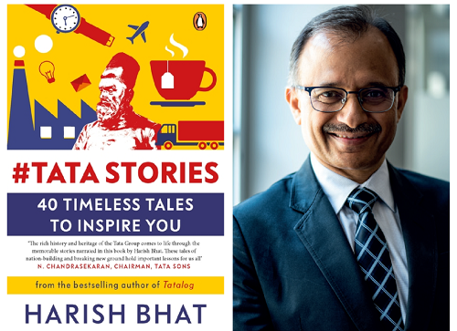 The book cover and author Harish Bhat