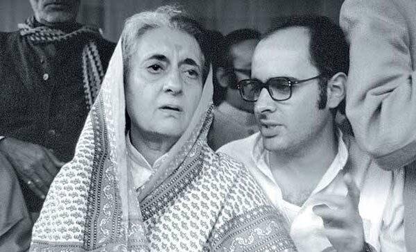 Indira Gandhi with Sanjay Gandhi