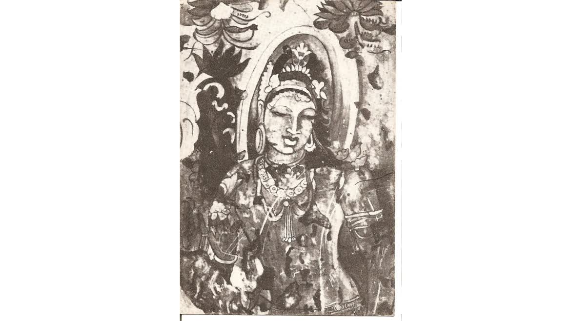 A Bodhisattva mural from Bagh Caves