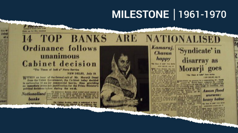 Indira Gandhi and the Nationalisation of Banks