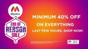 Myntra end of season sale 2020