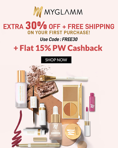 MYGLAMM SALE | Extra 30% Off + FREE SHIPPING on Your First Purchase