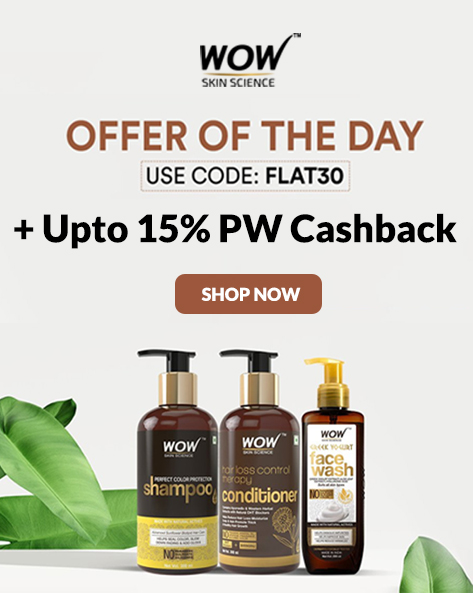 EXCLUSIVE OFFER | Flat 30% Off On Wow Skin Care, Hair Care & More