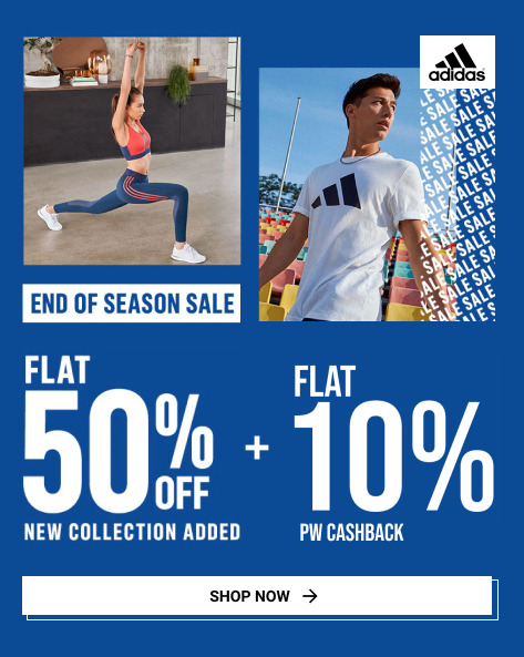 Adidas EOSS   Flat 50% Off on Footwear, Apparels & More + FREE SHIPPING