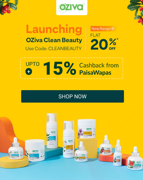 SWITCH TO CLEAN BEAUTY | Flat 20% Off on Orders Rs.799 and Above
