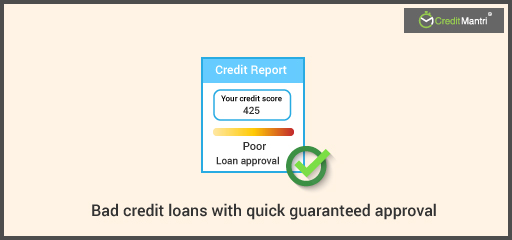Bad credit loans with quick guaranteed approval
