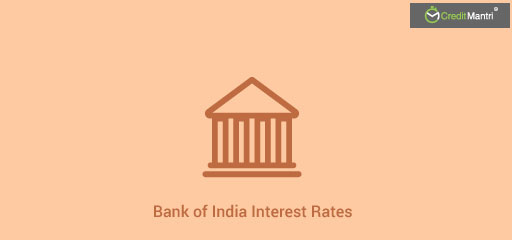 Bank of India Interest Rates