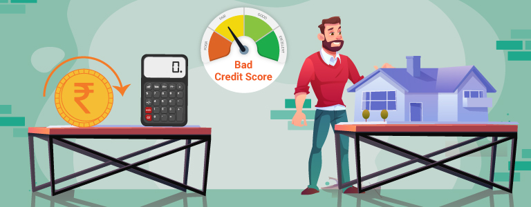 How to refinance a home mortgage with poor credit scores?