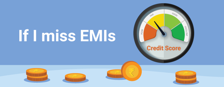 What action can the lender take if I miss paying loan EMIs on time?