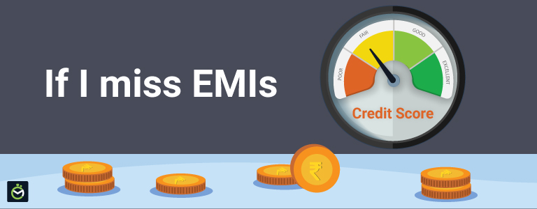 What happens if I miss an EMI payment on my loan?