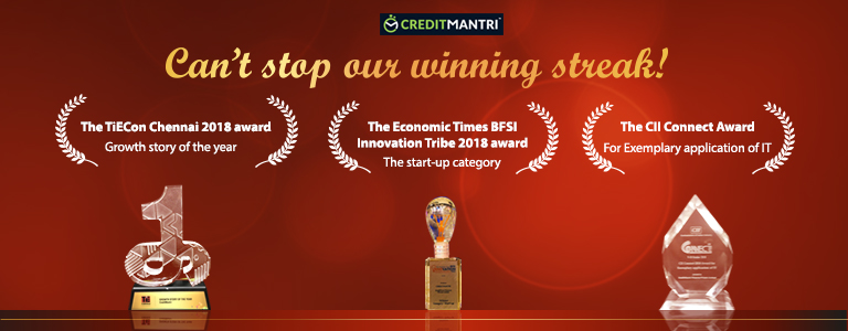 Three Cheers! Here's to many more! CreditMantri Bags Three Awards in 2018