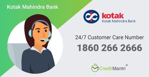 Kotak Mahindra Bank Credit Card Customer Care Number