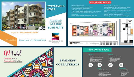 Brochure design, marketing collateral and content portfolio