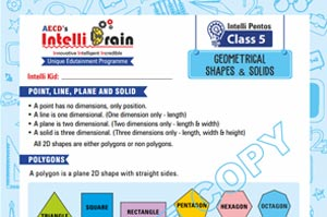 Intelli pentos geometrical shapes & solids class-5