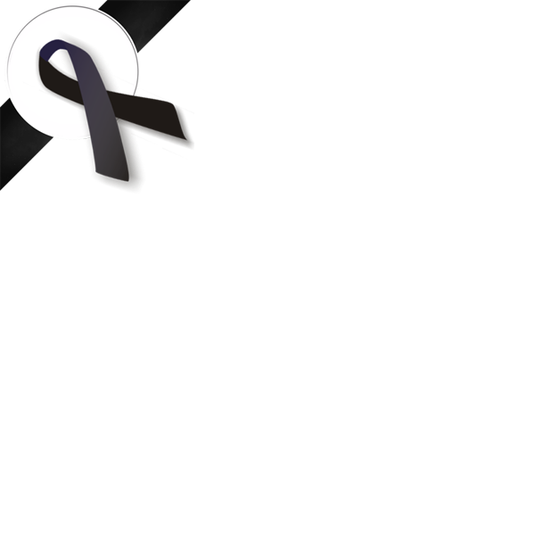 Black Mourning Ribbon For The Former King Of Thailand Awareness