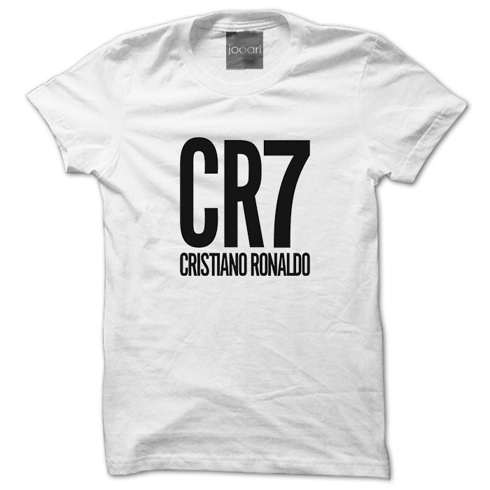 Ronaldo CR7 Round Neck White Tshirt