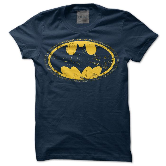 Batman Round Neck Navy Blue Tshirt
