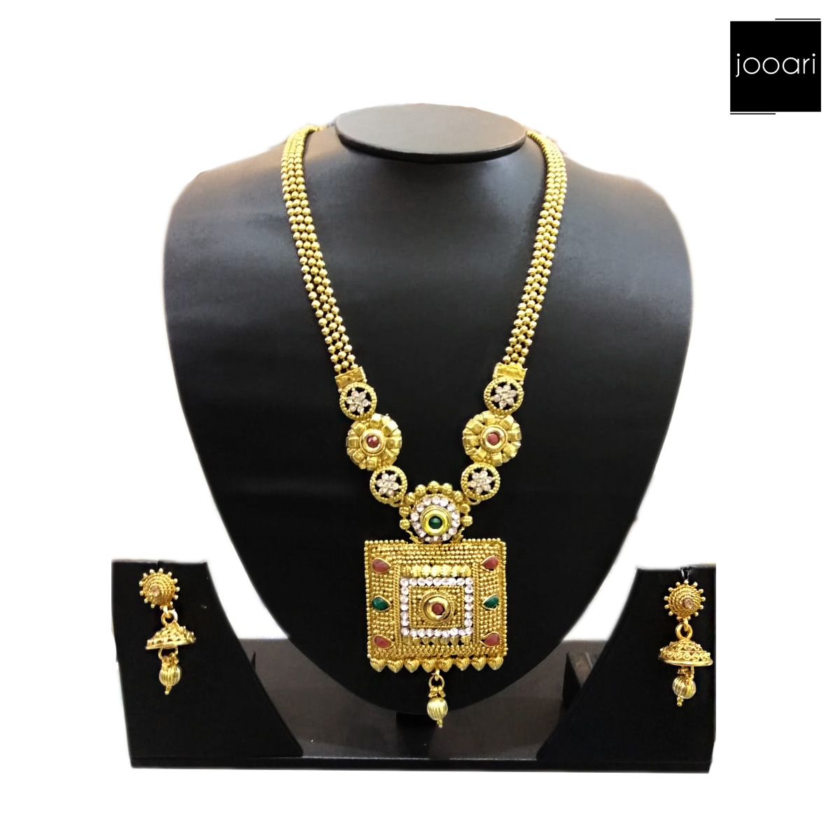 Gold Platted Rick looking Necklace Set for Women
