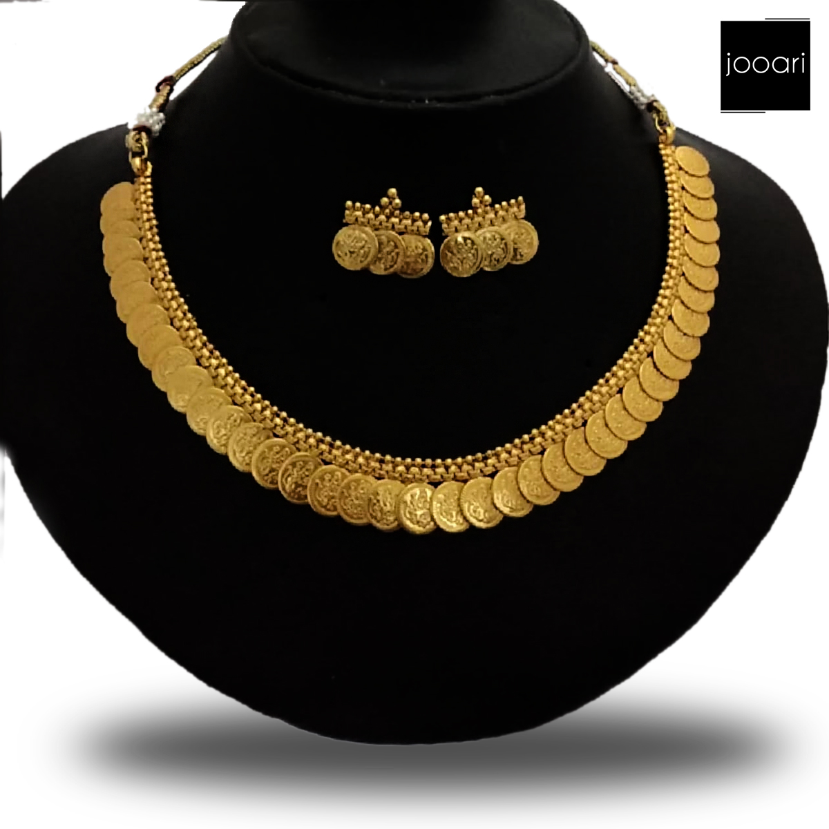 Gold Platted Rick looking Party Necklace Set for Women