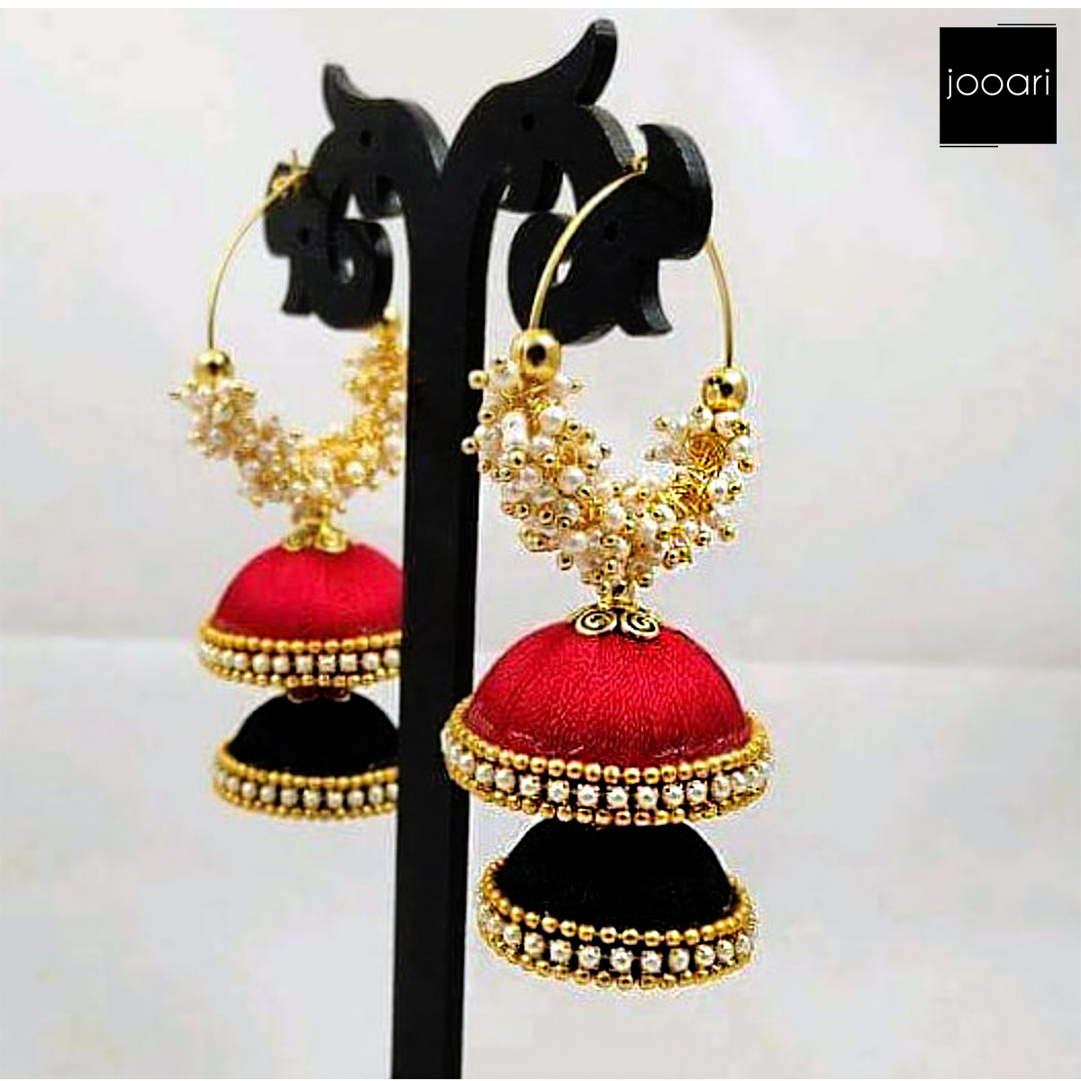 Black Red Earring for Women Traditional (Stylish Party Wear)