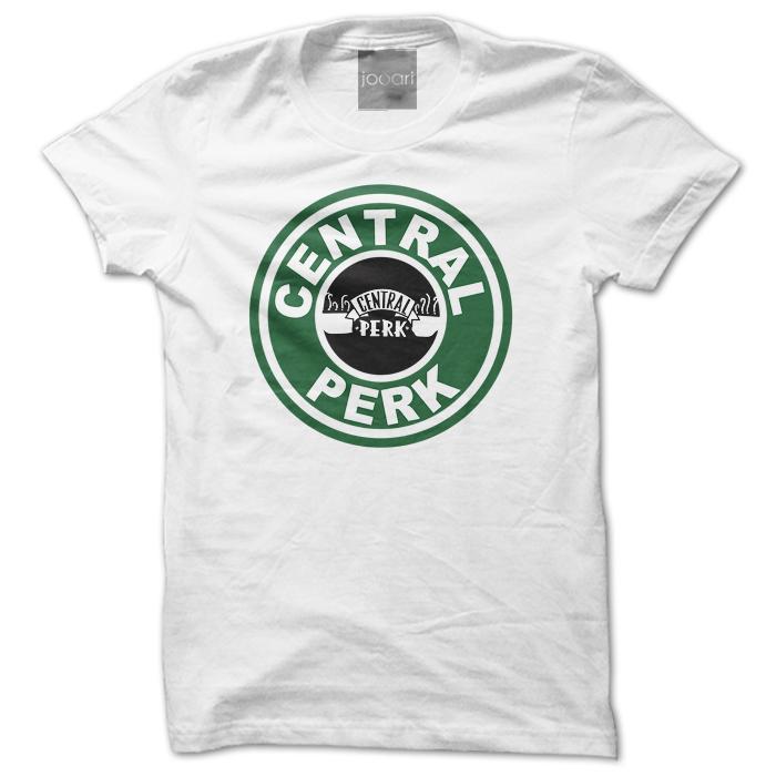 Central Perk Round Neck White Tshirt