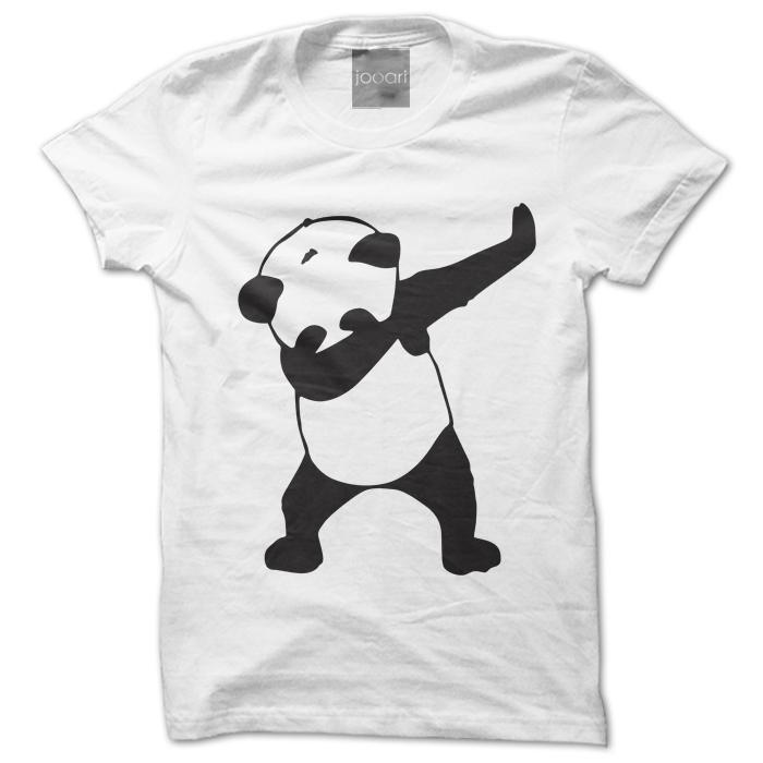 Panda Round Neck White Tshirt