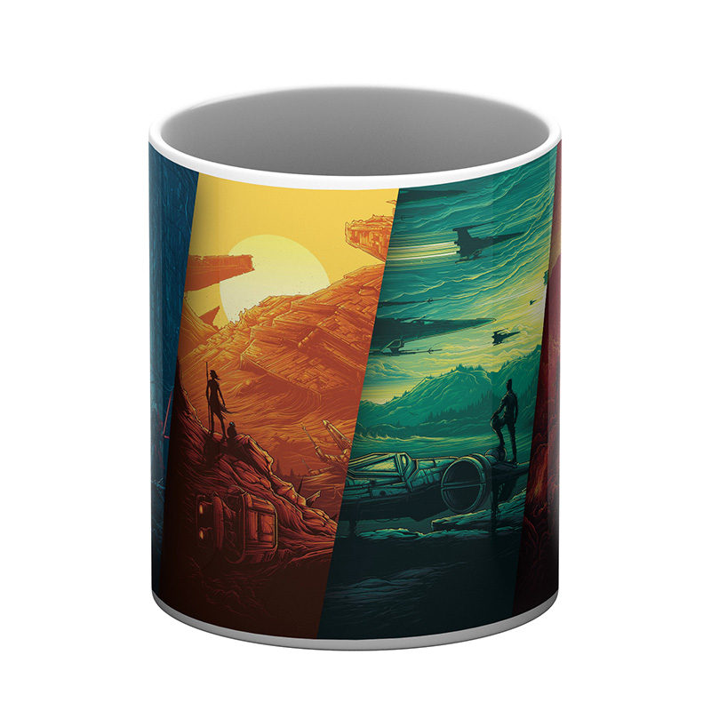 Multi Color Nature White Coffee Mug