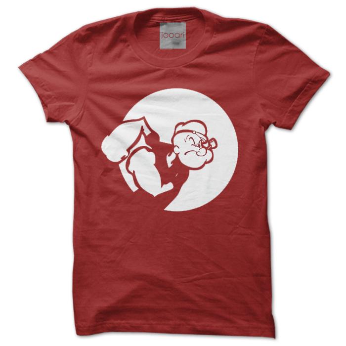 Popeye Round Neck Red Tshirt