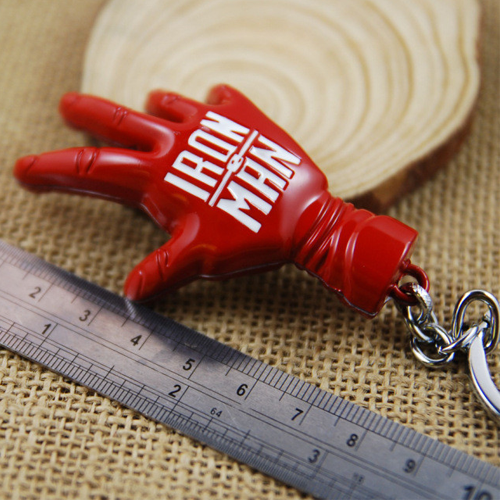 Ironman Red Hand Keychain