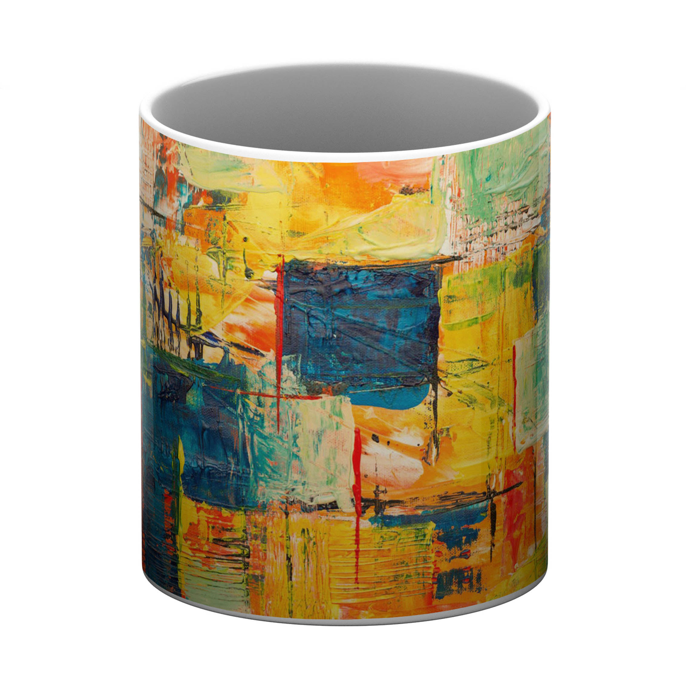 Multi Color PaintWhite Coffee Mug