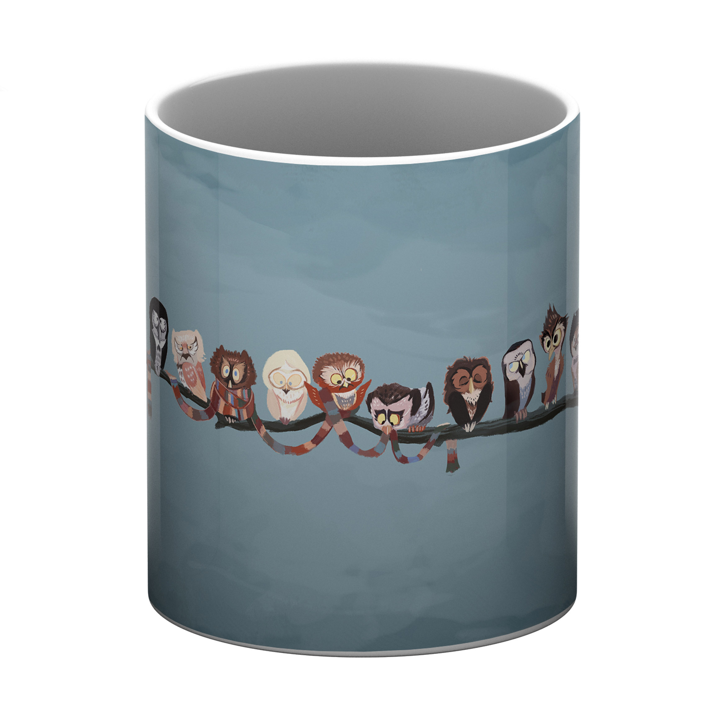 Cute Owls White Coffee Mug